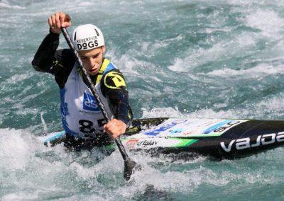 Mladinci so v Solkanu opravili s prvima izbirnima tekmama v slalomu na divjih vodah